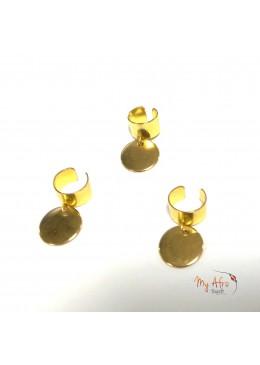 bagues pour tresses avec breloque ethnique dorée en forme de pointe
