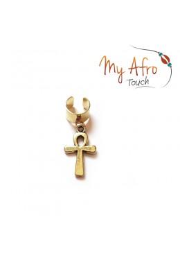 bijoux de cheveux avec croix Ankh