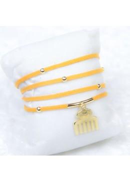 Bracelet multitours constellation orange